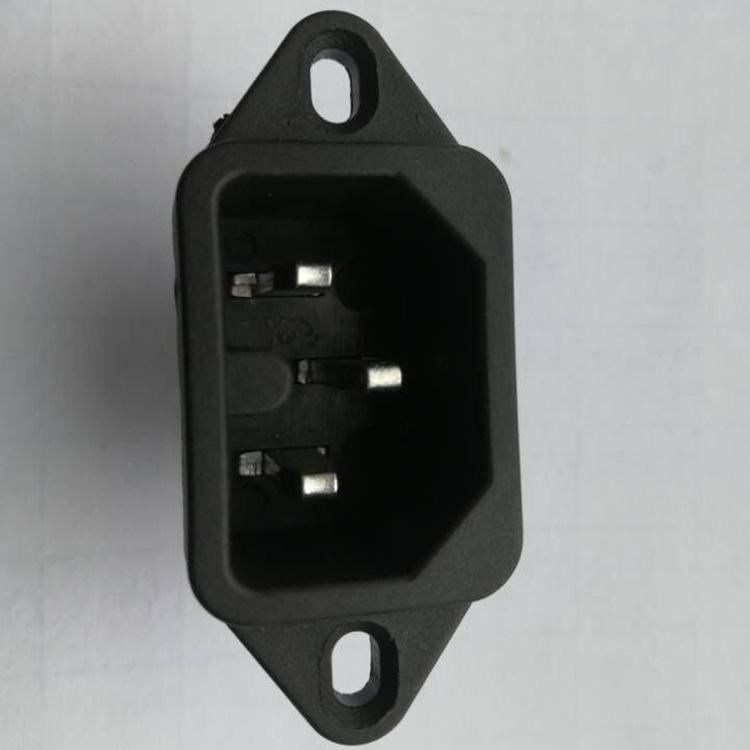唯信厂家直销AC电源开关插头母座品字三孔 安规认证齐全