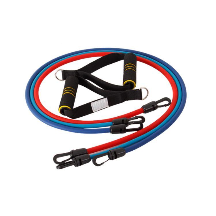 厂家定制多功能拉力绳 天然乳胶一字拉力器 力量训练弹力带套装