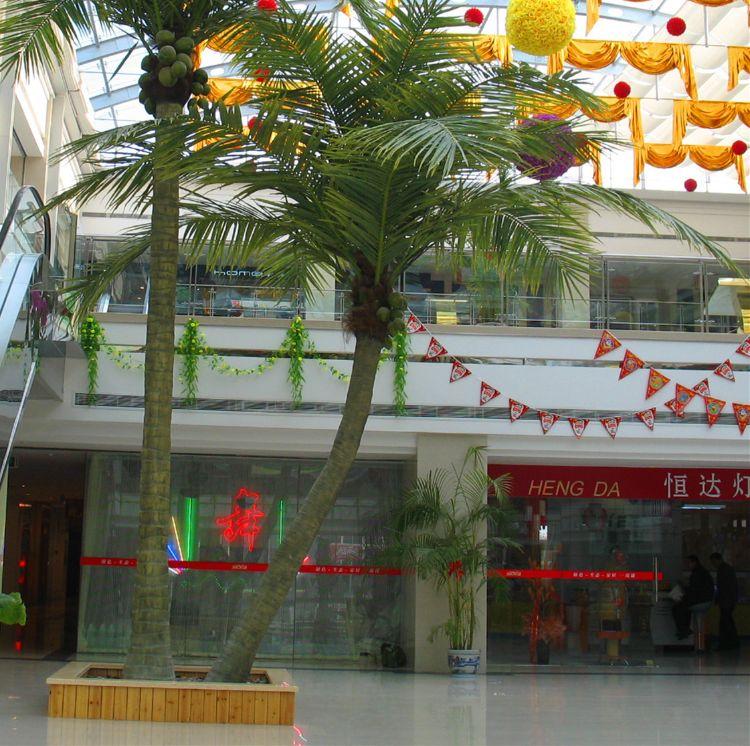 上海仿真树厂家椰子树批发  玻璃钢人造椰子树定制 假树生产厂家