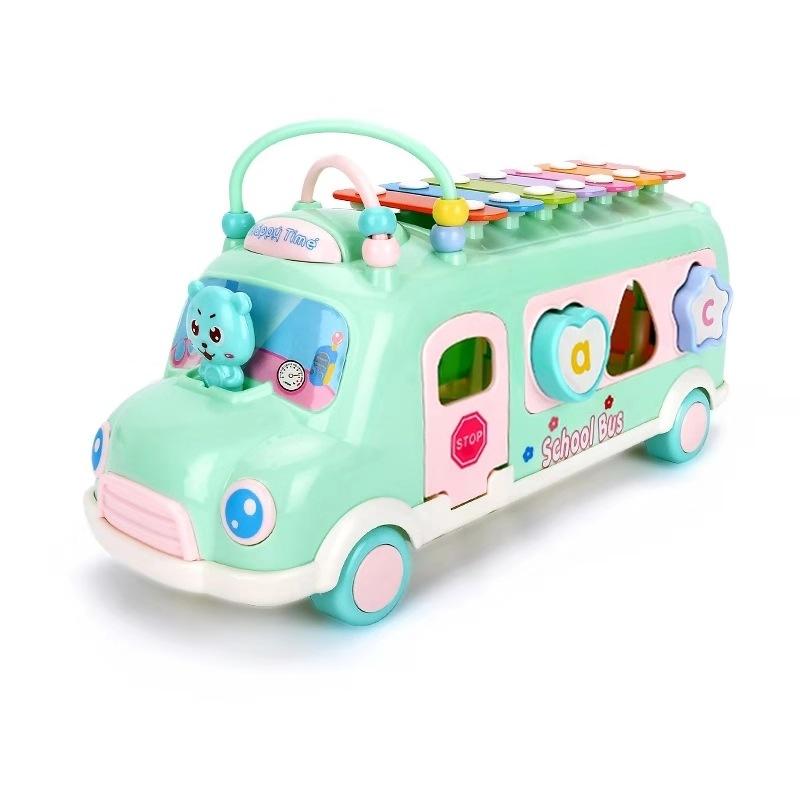 儿童玩具 爆款儿童益智巴士琴 早教益智