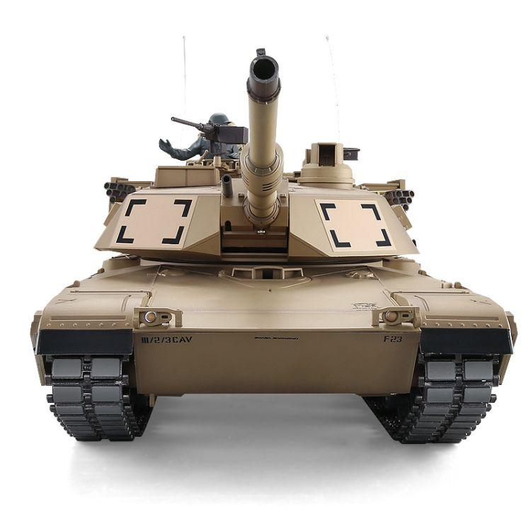恒龙3918-1美军M1A2艾布拉姆斯主战坦克 可冒烟 2.4G遥控军事模型