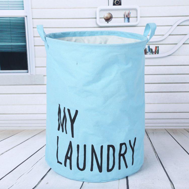 厂家直销加厚家居脏衣篮卡通布艺脏衣篓大号折叠洗衣篮浴室收纳桶厂家现货
