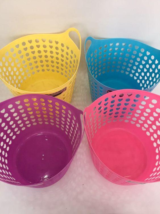 【厂家直销】厨房置物浴室脏衣镂空塑料篮 环保无味多功能收纳篮