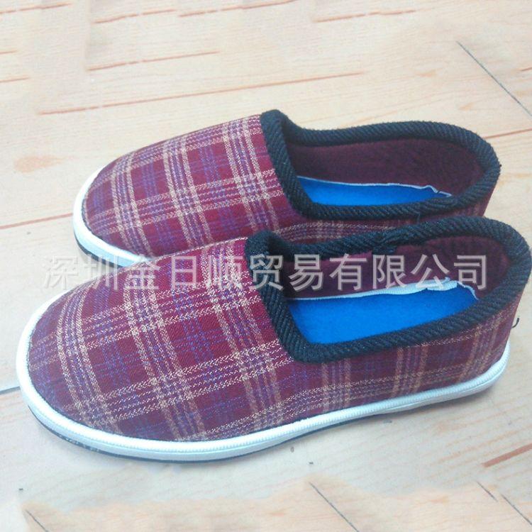 厂家直销冬季加绒加厚软底防滑布鞋 纯手工老年人保暖棉鞋