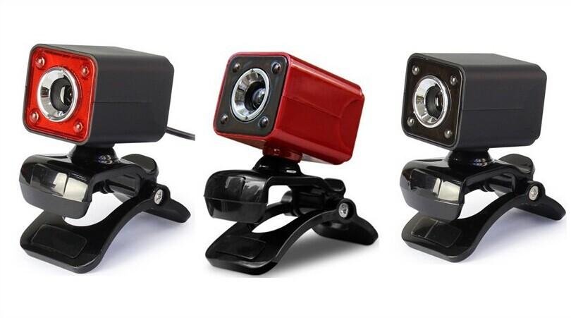 电商热销 高清夜视摄像头 内置10米吸音麦克风 4LED自由开关