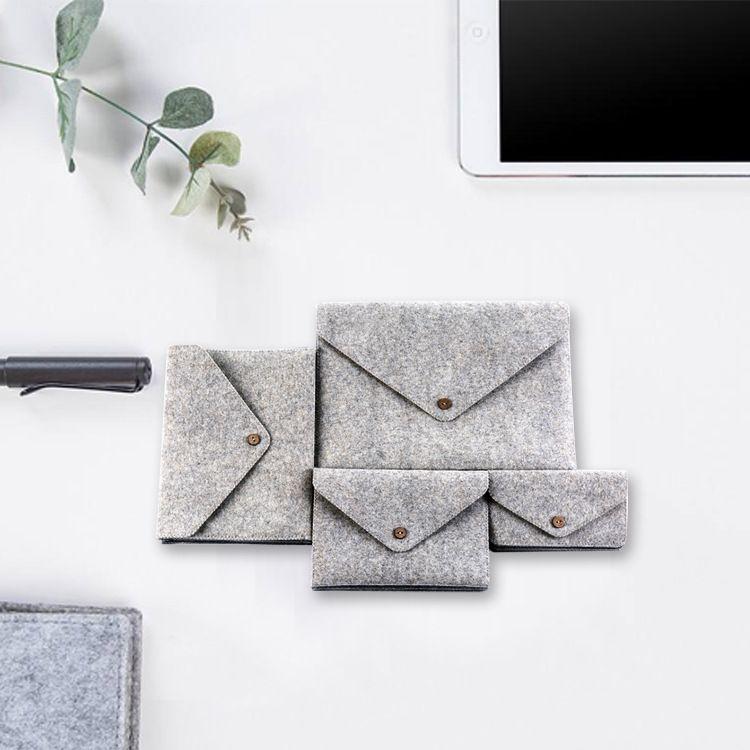 可定制时尚美观羊毛毡电脑保护套 纤绒面皮笔记本电脑平板保护套