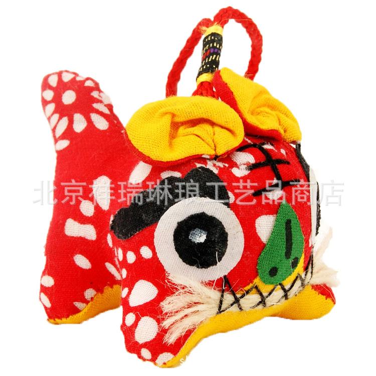 中国风居家摆件 布老虎独尾虎粗布出国特色礼品送老外礼品