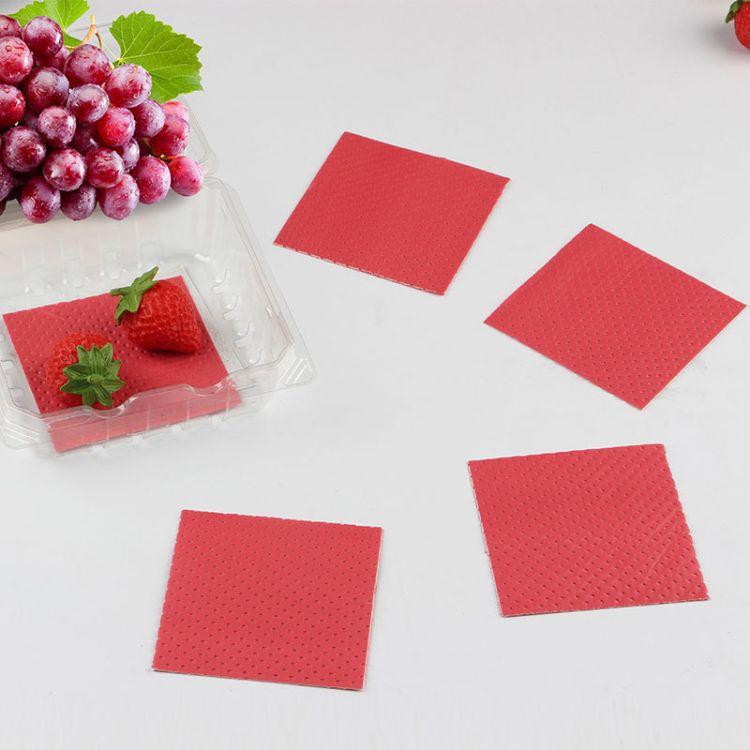 包邮一次性蓝莓吸水垫 水果垫防滑垫环保PE食品垫粉色隔垫