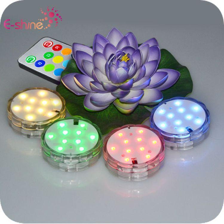厂家供应 RGB遥控透镜潜水灯 LED防水蜡烛灯 可远程遥控