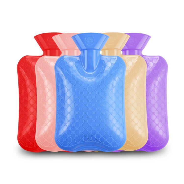 厂家直销环保PVC热水袋灌水 暖手宝冲水2000ml大号注水 定制批量