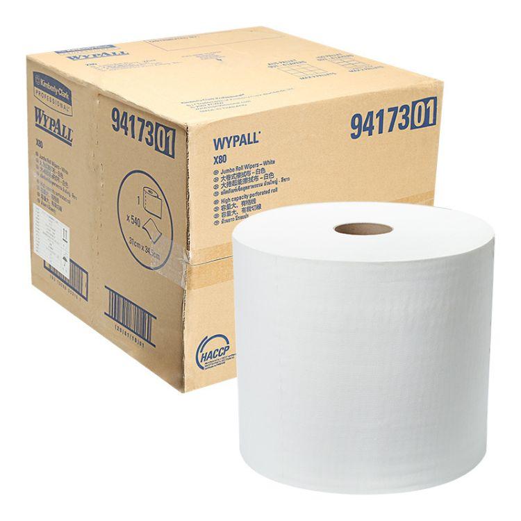 金佰利WYPALL X80 94173A大卷 进口工业抹布 代替百洁布 碎布擦拭