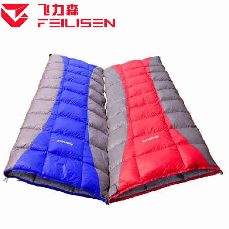 鸭绒信封隔脏睡袋保暖加长信封式野营户外露营成人可拼接旅行睡袋