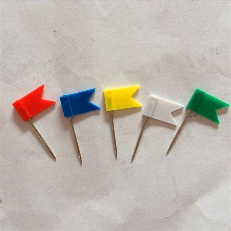厂家供应国旗钉 彩色旗型钉 异型钉 绘画图钉办公定位钉