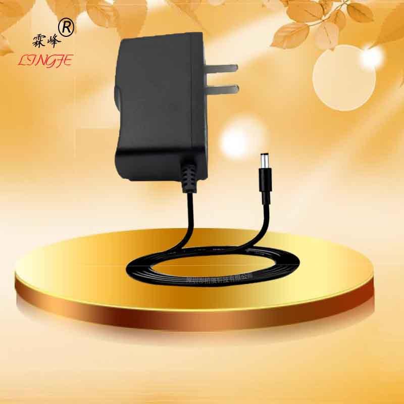 5V2A插墙式欧规美规韩国日规中规带灯转灯开关电源适配器现货黑色