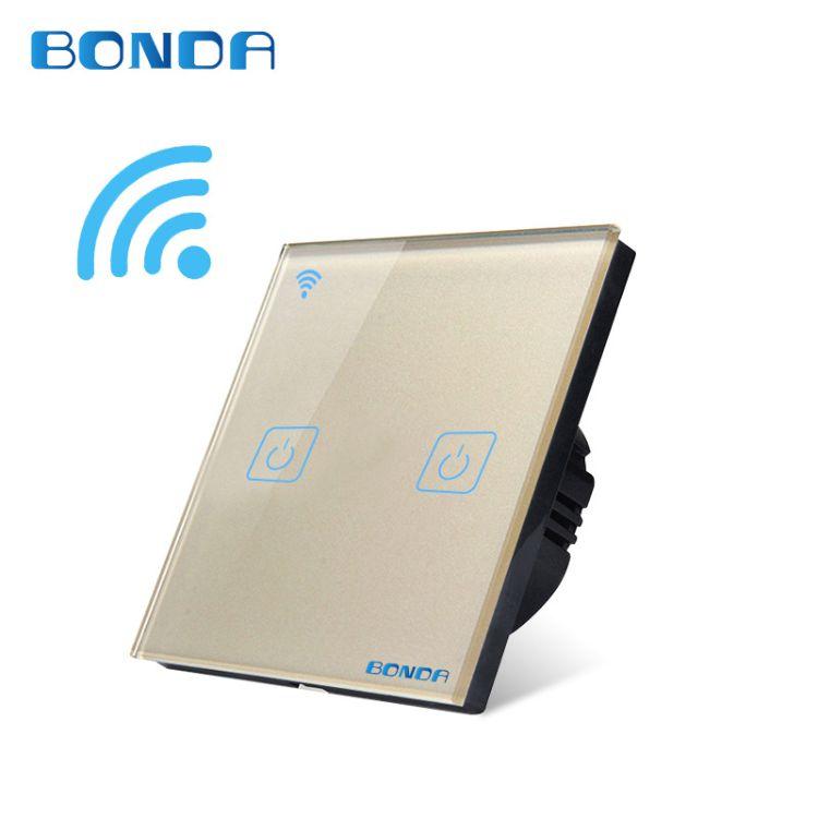 邦尔达智能开关86型WIFI开关可触摸遥控手机远程控制支持天猫精灵