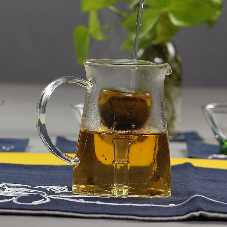 纯手工高硼硅玻璃茶具三角形玻璃茶海家用防烫公道杯分茶器批发