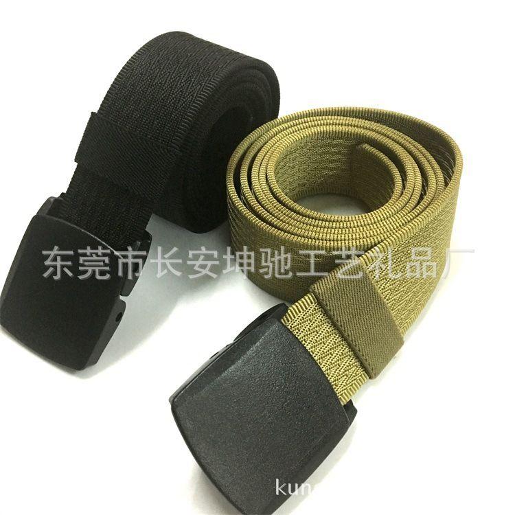 YKK扣头提花腰带尼龙运动帆布腰带休闲防过敏皮带战术带