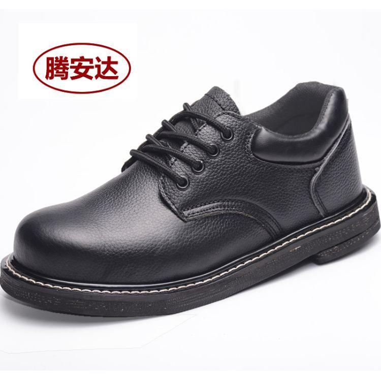 厂家现货批发轮胎底工作鞋劳保鞋耐高温防水男式低帮鞋黑色