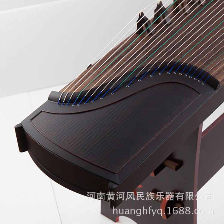 黄河风古筝厂家批发古筝天然木质檀木素面演奏级古筝多图特价混批