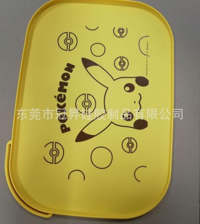 卡通儿童食品级硅胶餐桌垫 便携式防水餐盘 可水洗洗盘餐垫