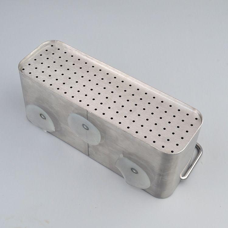 不锈钢筷子篮刀叉篮厨房沥水筷托筷子盒吸盘挂壁收纳盒 厂家批发