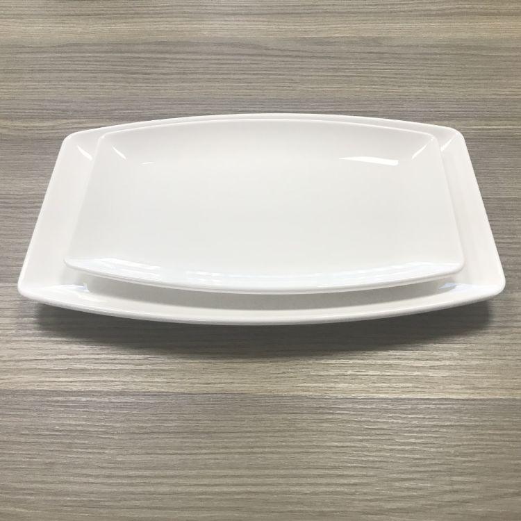 玖月美A5密胺仿瓷耐摔长形碟,日式料理餐具,小吃碟,火锅碟