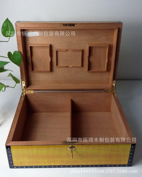 深圳木盒厂家加工定做实木雪茄保湿礼品盒高档雪茄盒木质高光烟盒