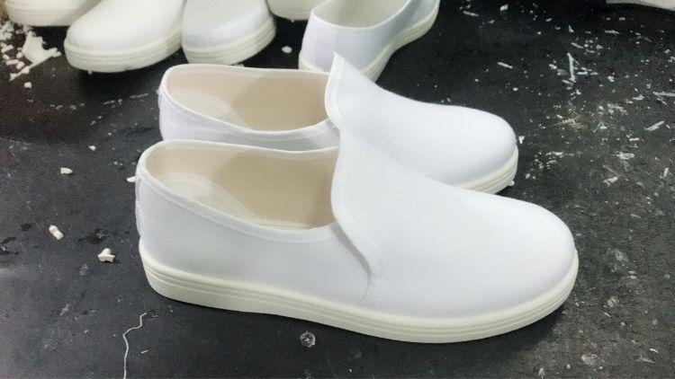 防静电无尘鞋帆布透气中巾鞋PVC常年现货库存款防静电工作鞋