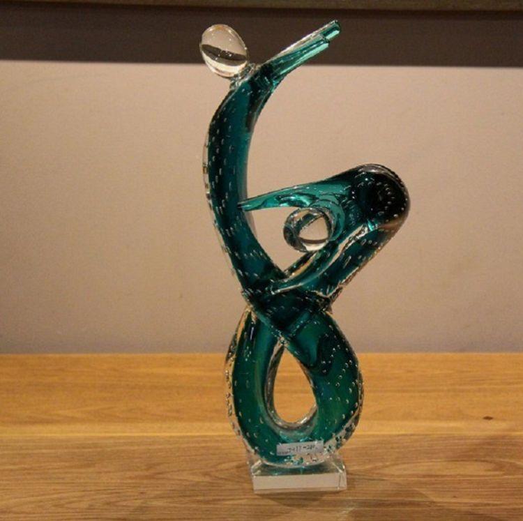 玻璃工艺品 琉璃异型摆件 玻璃奖杯纪念品