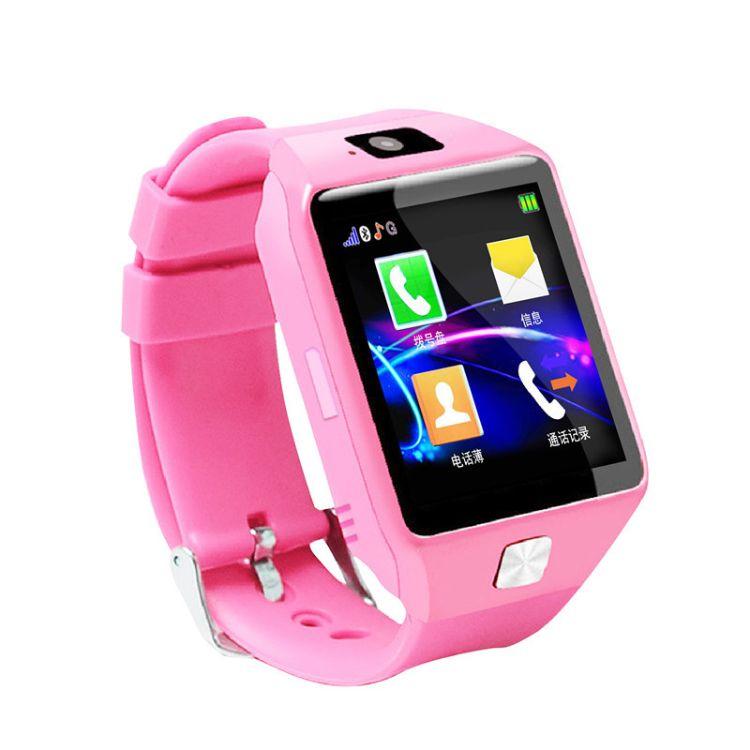厂家直销DZ09高清触屏定位电话手表超长待机双向通话儿童防水手表