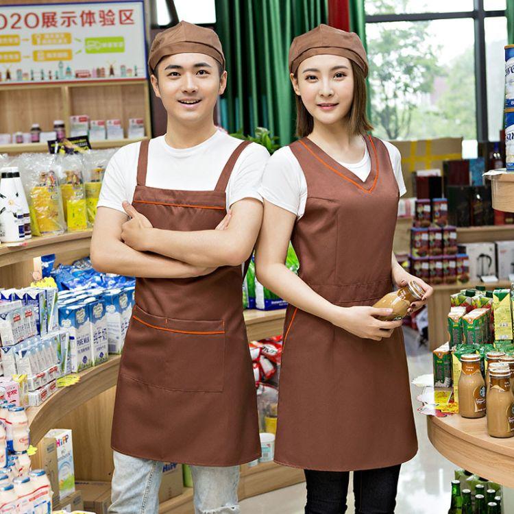 浅咖啡类贝蕾帽 快餐店工作帽 均码男女通用