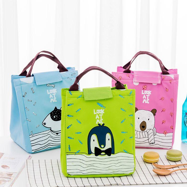 青涩年代韩版卡通可爱饭盒袋保温包 手提送餐便当包 学生午餐包