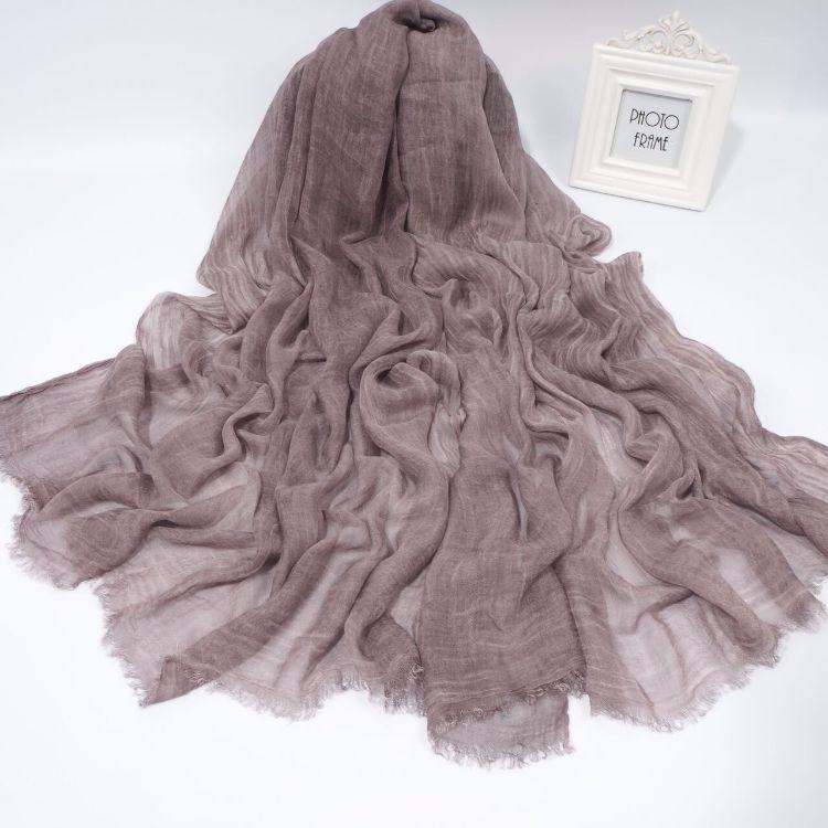 日本尾单 莫代尔脏染六色大尺寸围巾 度假防晒长巾