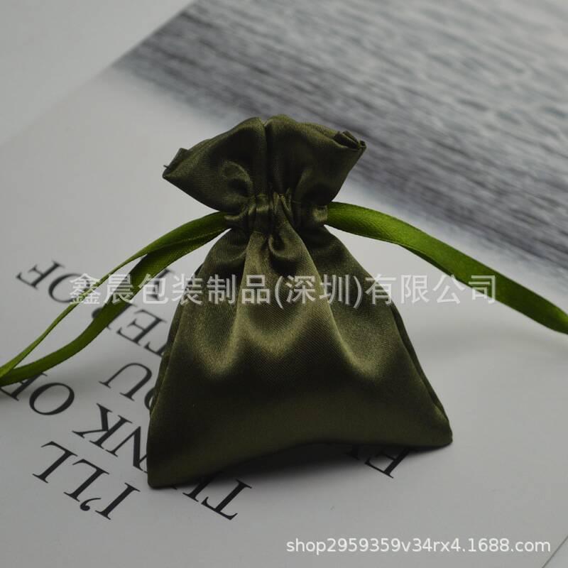 厂家供应色丁布袋 礼品束口袋 首饰袋批发 仿丝绸布袋可印刷LOGO