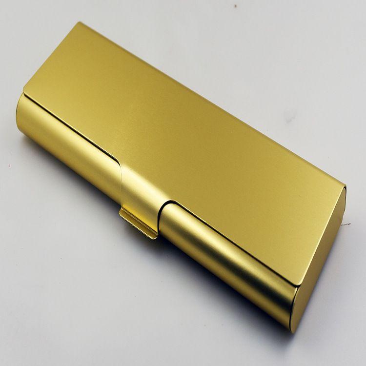 创意时尚铝合金学生笔盒 简约日韩风金属文具收纳盒 礼品商务笔盒