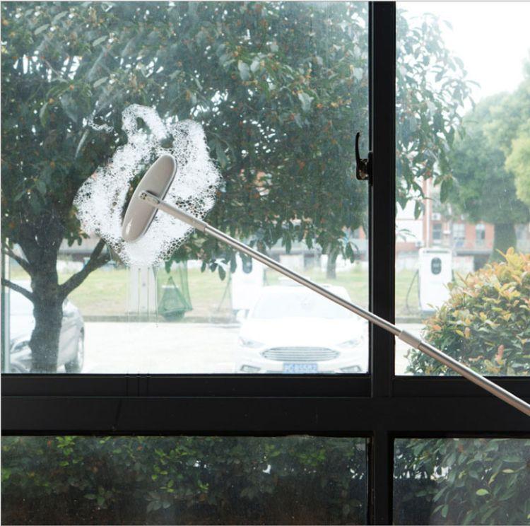 长柄铝合金杆可伸缩清洗隐形纱窗刷窗户专用除尘清洁刷子擦纱窗器
