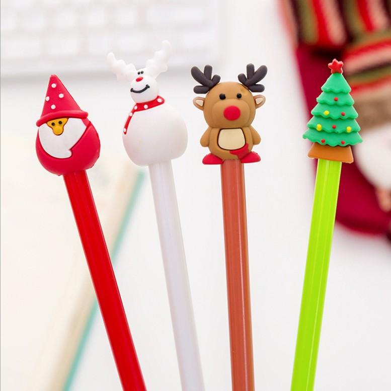 圣诞节中性笔 可爱卡通创意圣诞老人笔水笔签字笔 学生用圣诞礼品