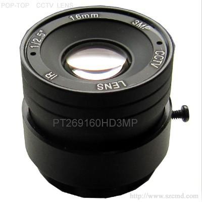 3百万高清镜头16mm,监控镜头,光学镜头,高清网络摄像机镜头