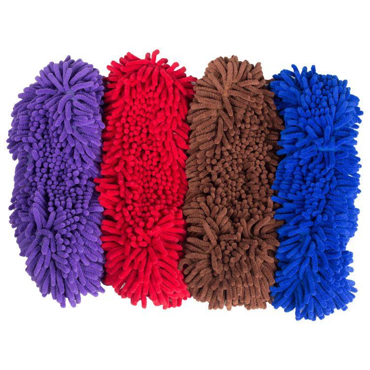 雪尼尔拖把套布替换墩布懒人拖地鞋套清洁地板可拆洗防滑鞋套