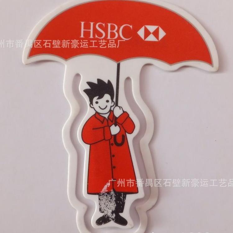 新爆款出口日本PP书签塑料PP书签夹子定制免费拿样来图加工定制
