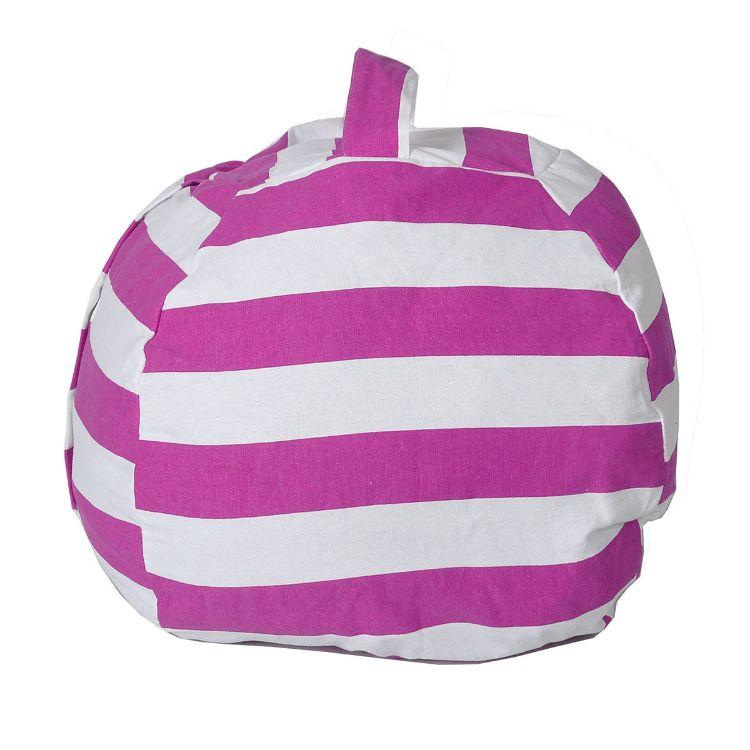 毛绒玩具收纳袋大号儿童家居用品收纳包 大容量球状带提手拉链