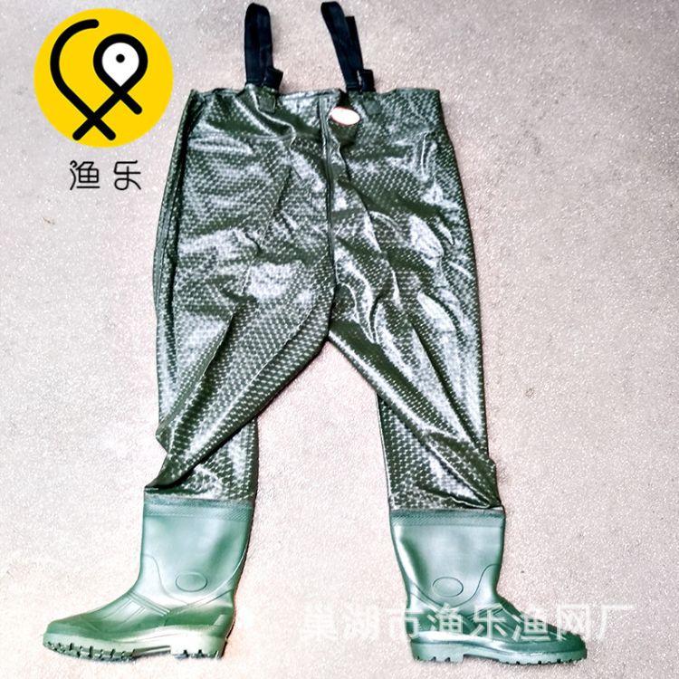 橡胶下水裤 半身连体防水裤 捕鱼背带裤 涉水服 渔具用品 耐磨