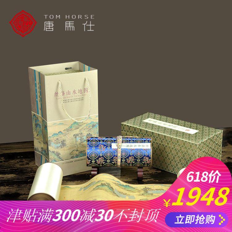 一带一路丝路山水地图国画丝绸长卷中国特色高档商务礼品送老外