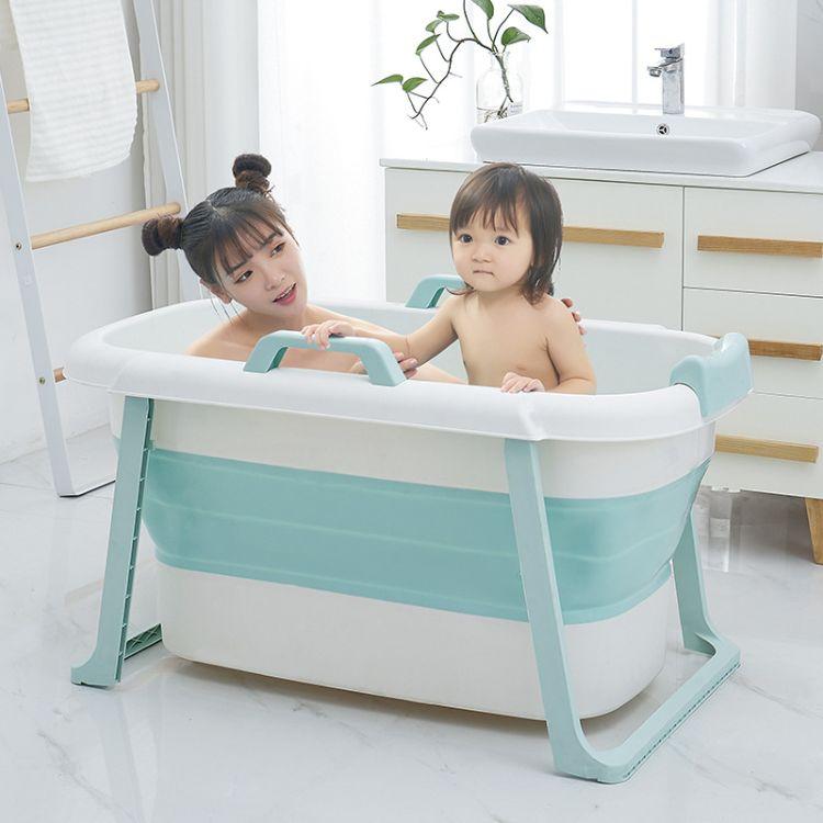 家用可折叠泡澡桶全身浴缸成人浴桶儿童洗澡盆加厚