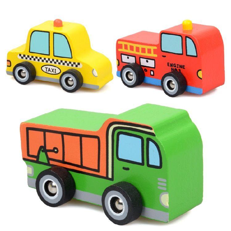 玩具车儿童木制早教玩具 宝宝婴幼儿工程车模型积木玩具车批发