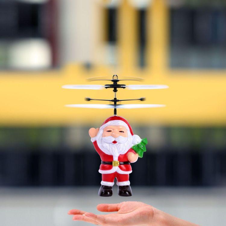 圣诞老人感应飞行器圣诞节礼物飞人悬浮飞人手感应飞行器悬浮飞机