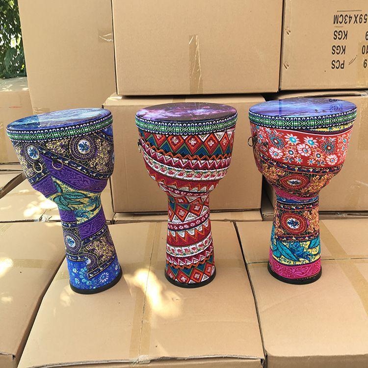 儿童初学8寸非洲鼓成人10寸丽江PVC入门手鼓儿童乐器 网红非洲鼓