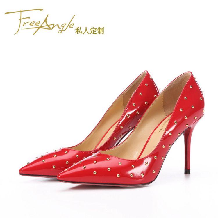 外贸出口高端鞋子私人制定真皮高跟鞋贴牌加工代生产来图来样OEM