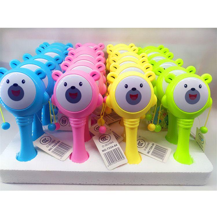 特价邦尼熊新生儿塑料拨浪鼓宝宝卡通手摇鼓玩具婴儿乐器玩具批发