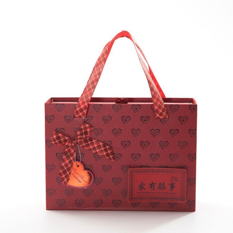 创意手提爱心抽屉式喜糖盒  中国风新人结婚回礼伴手礼盒专业订制